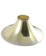Sandner Yellow Brass Hammered Flare with Garland