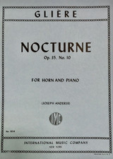 Gliere, Nocturne For Horn Op. 35, No. 10