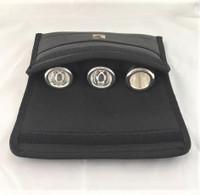 Triple Trombone Mouthpiece Pouch in leather