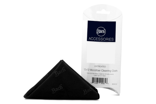 """Bach Untreated Microfiber Cleaning Cloth Black 12 x 12"""""""
