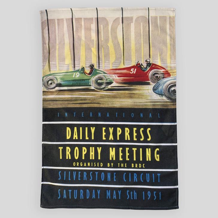 Silverstone 1951 Trophy Meeting Programme Cover Tea Towel