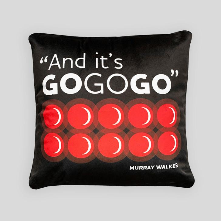 Murray Walker 'Go Go Go' Cushion