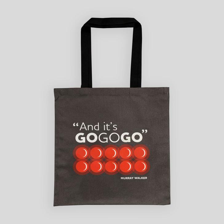 Murray Walker 'Go Go Go' Tote Bag