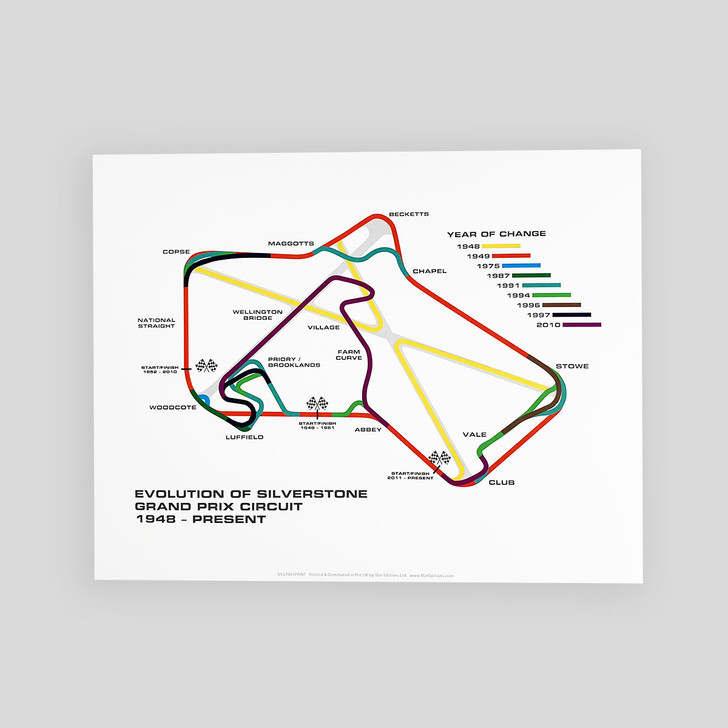 Silverstone Circuit Evolution Print