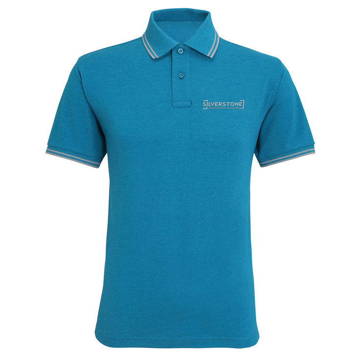 Silverstone Interactive Museum Mens Tipped Polo - Teal
