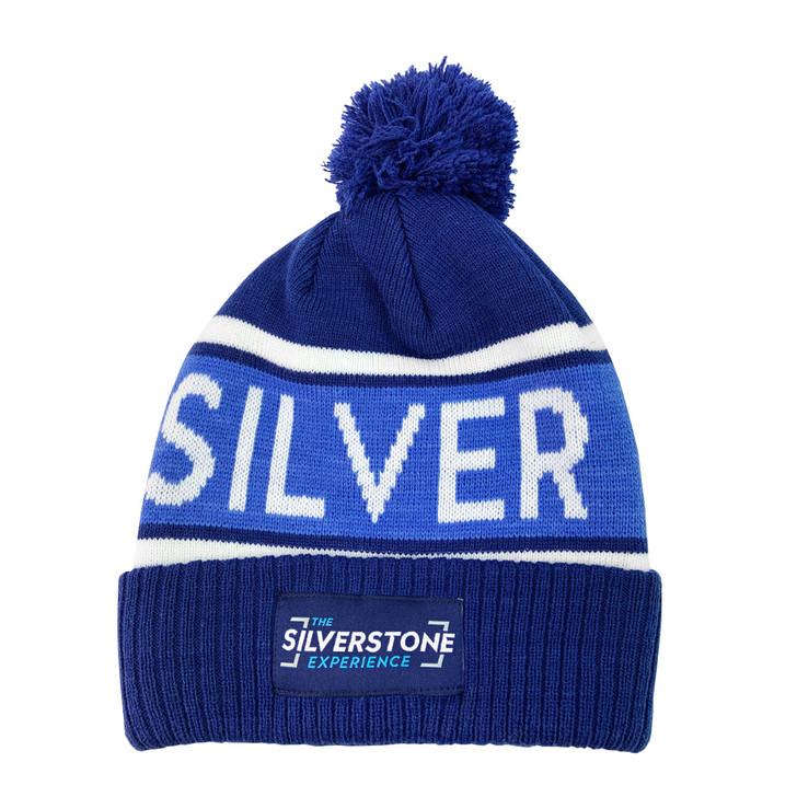 Silverstone Jacquard Pompom Beanie - Navy / Royal / White