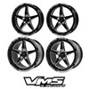 VMS Front & Rear Street Drag Wheel Set 2005-2020 Mustang S197 S550. Front 18x5 and Rear 17x10.