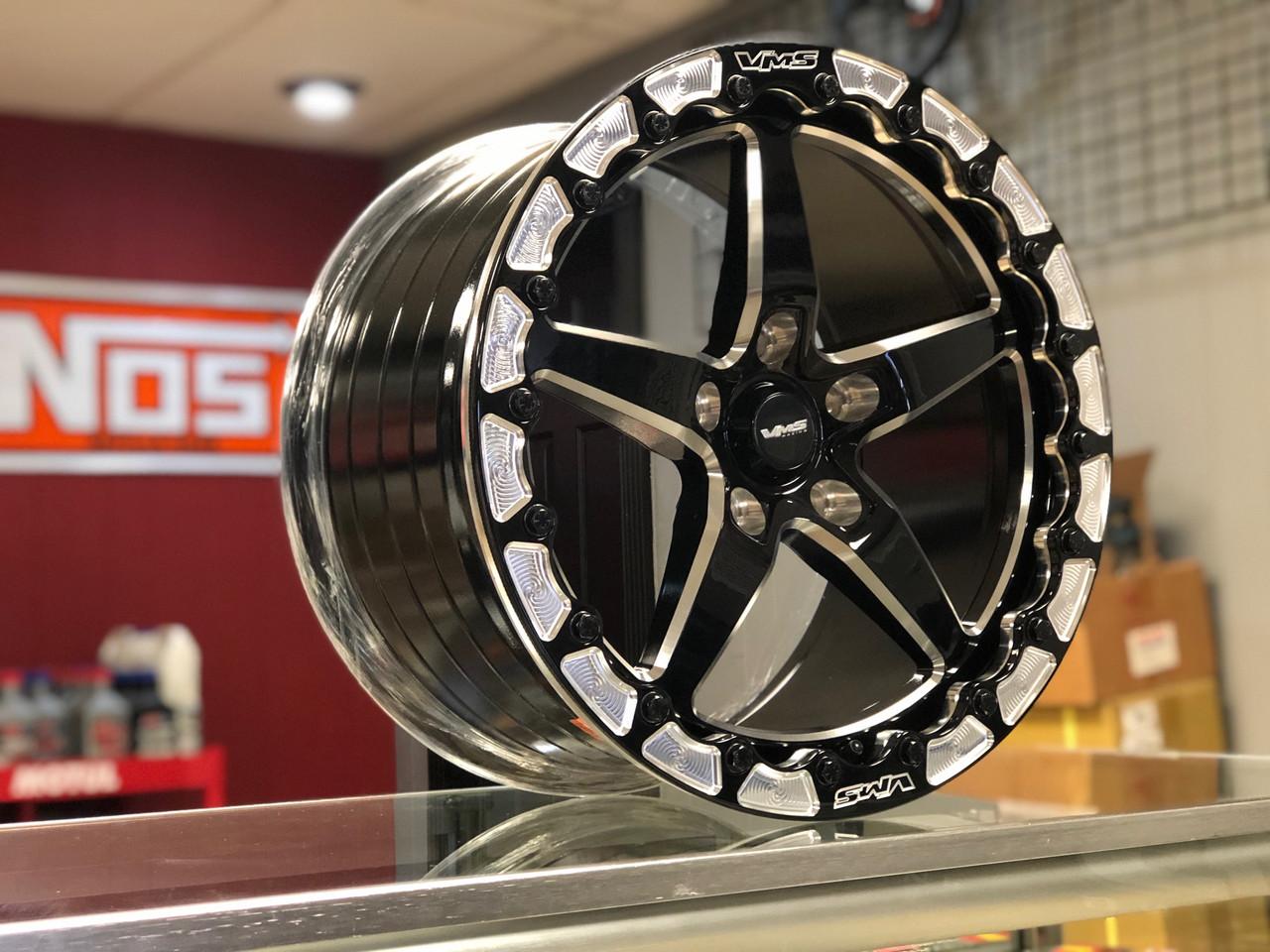 VMS 17x10 Rear Street Drag Race Wheel Beadlock Dodge Charger Challenger Hellcat