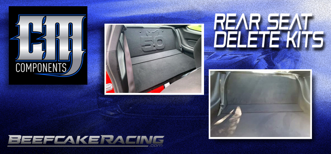 CM Components Mustang Rear Seat Delete at Beefcake Racing