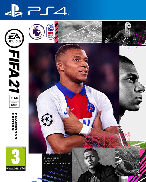 FIFA21 PS4 Video Game Cover