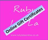 Ruby La La Online Gift Certificates