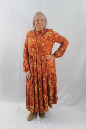 Tiered Print Maxi Dress