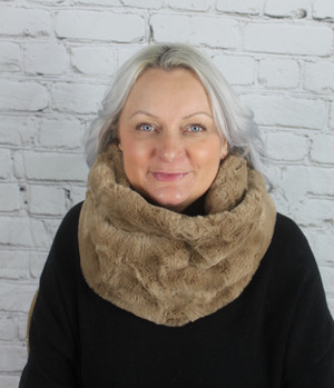 Faux Snood - Toffee
