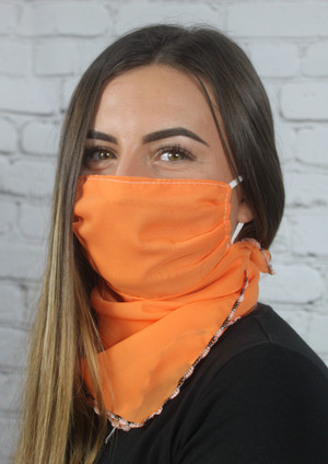 Covering/Face Scarf - Orange