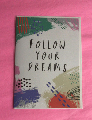 Cardlet - Not Just a Card! - Follow your dreams