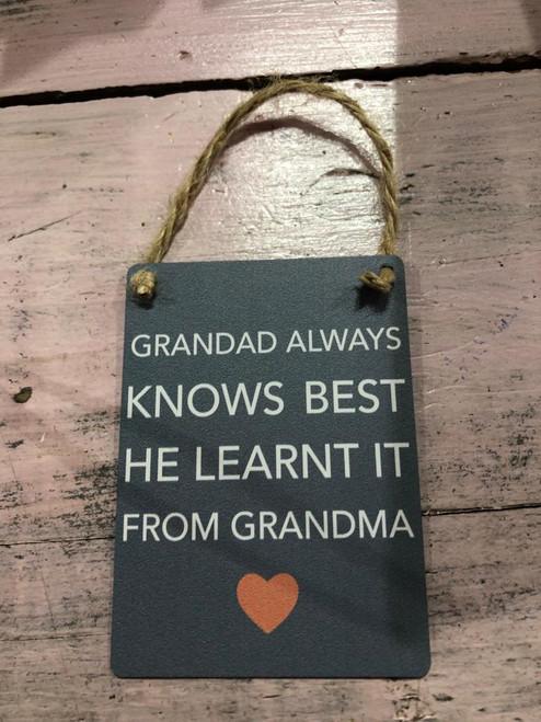 Grandad Always Sign