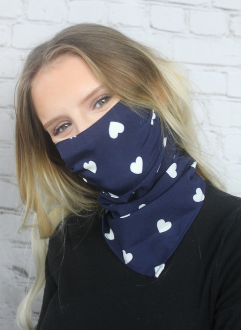 Heart Print Scarf Covering