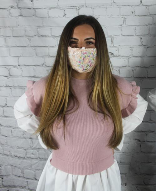 Embellished Lace Mask