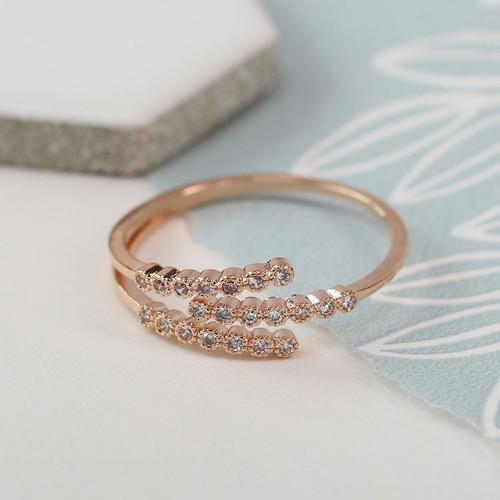 Triple Strand Ring - R/Gold Plated