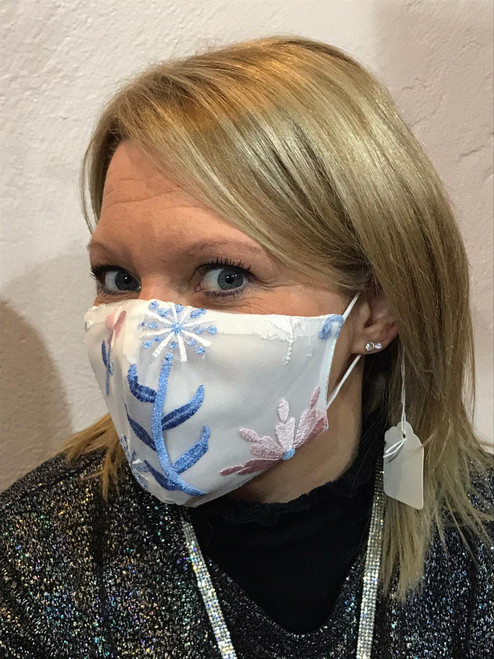 Embroidered Rose Face Mask