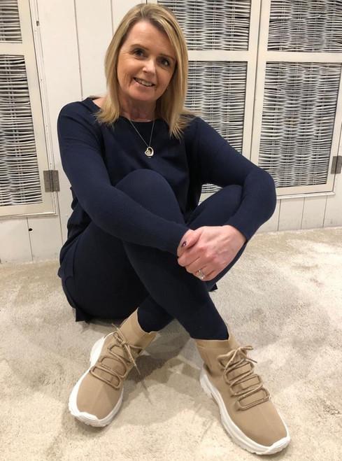 Trainer Boots - Beige