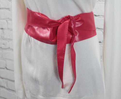 PU Wrap Belt - Fuscia