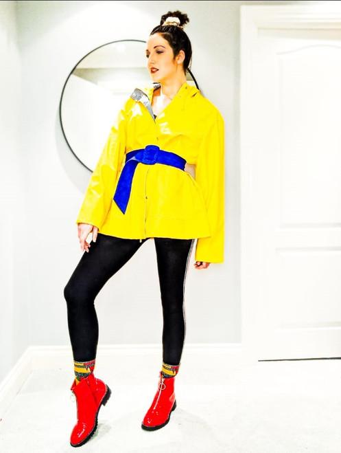 Rubberised Rain Coat Yellow