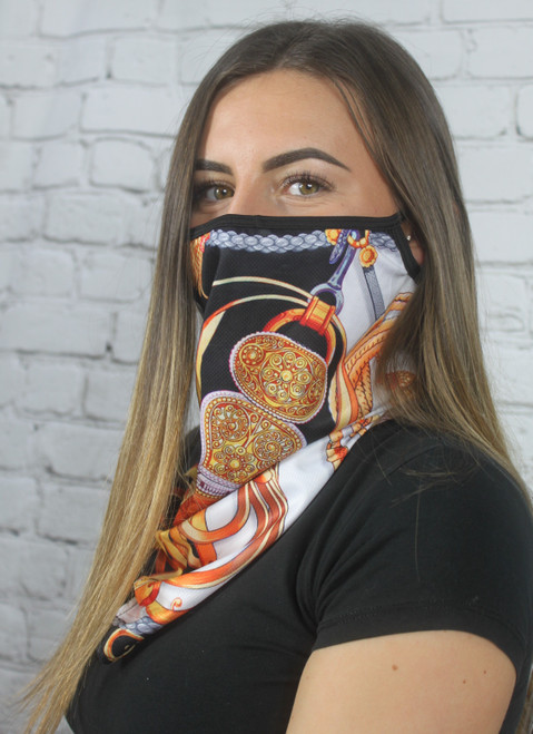 Scarf Mask/Face Covering - Gold