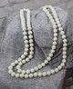 Bead String Necklace - Cream