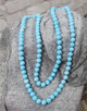 Bead String Necklace - Blue
