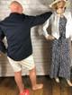 Denim Turn Up Shorts - Cream