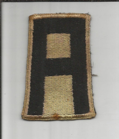 RARE British Made Gold & Black WW 2 US Army 1st Army Patch Inv# S858