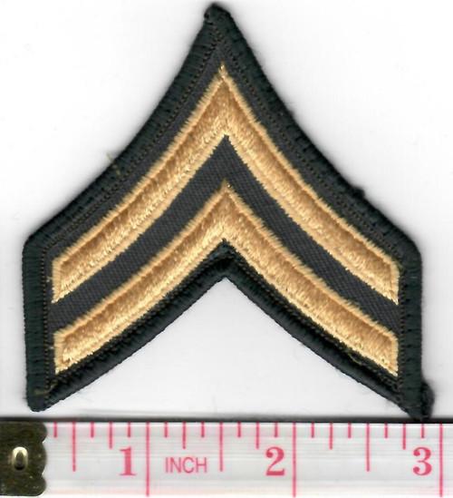 70' & 80's US Army Merrowed Edge Corporal Chevron Inv# W492