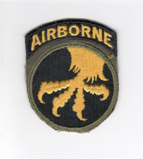 WW 2 US Army 17th Airborne Division Patch Attached Tab Inv# C885
