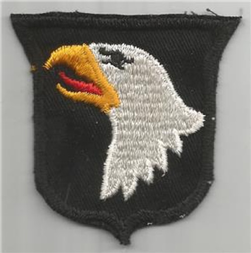 50's Cut Edge No Glow Twill US Army 101st Airborne Division Patch Inv# F047