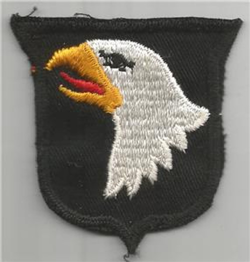 50's Cut Edge No Glow Twill US Army 101st Airborne Division Patch Inv# F061