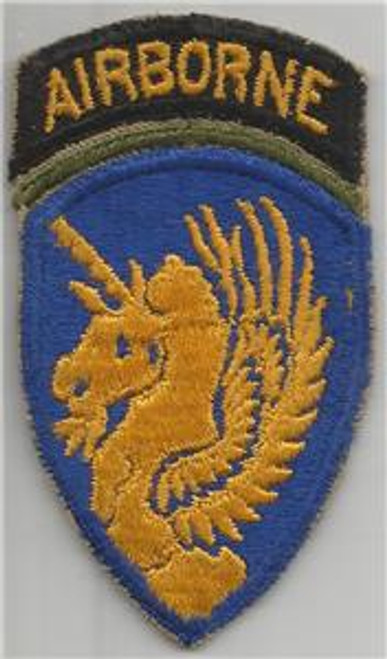 Blue Border OD Insert WW 2 US Army 13th Airborne Division Patch Inv# H247