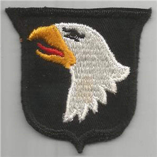 50's Cut Edge No Glow Twill US Army 101st Airborne Division Patch Inv# F065