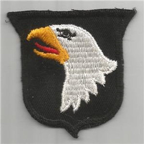 50's Cut Edge No Glow Twill US Army 101st Airborne Division Patch Inv# K395