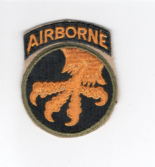 WW 2 US Army 17th Airborne Division Reversed Patch Attached Tab Inv# C886
