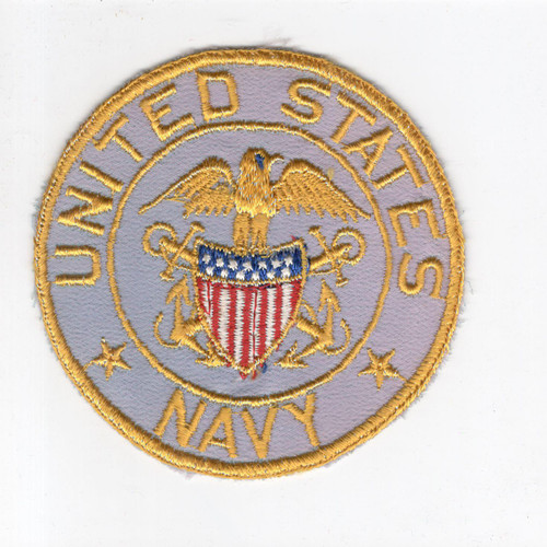 "4"" WW 2 USN United States Navy Wool Jacket PX Patch Inv# H250"