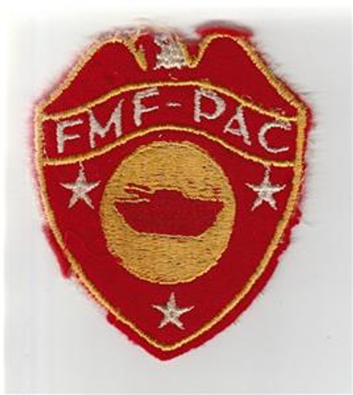 Off Uniform WW 2 USMC FMF-PAC Tanks / Tractor Battalion Wool Patch Inv# S658