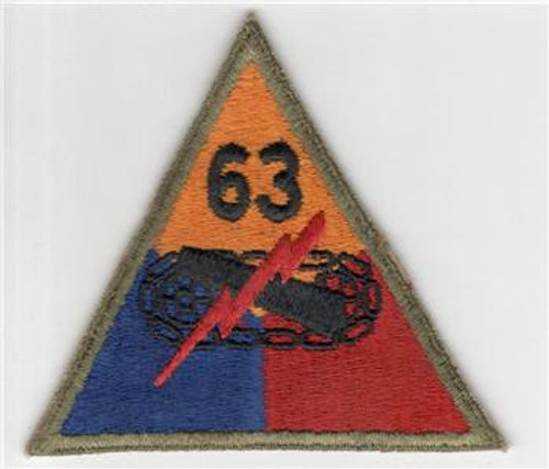 1947 - 50's US Army 63rd Heavy Tank Battalion Patch Inv# R946