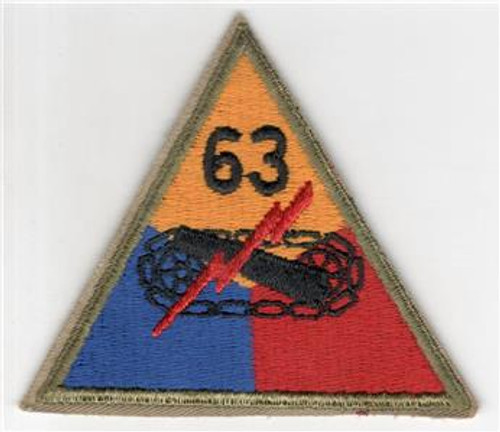 1947 - 50's US Army 63rd Heavy Tank Battalion Patch Inv# R945