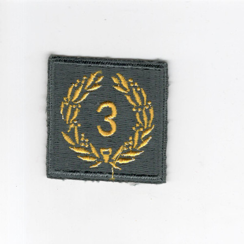Cut Edge No Glow AG US Army Meritorious Unit Citation 3rd Award Patch Inv# H169