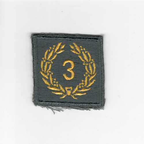 Cut Edge No Glow AG US Army Meritorious Unit Citation 3rd Award Patch Inv# H168