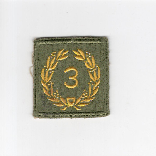 Cut Edge No Glow AG US Army Meritorious Unit Citation 3rd Award Patch Inv# H163