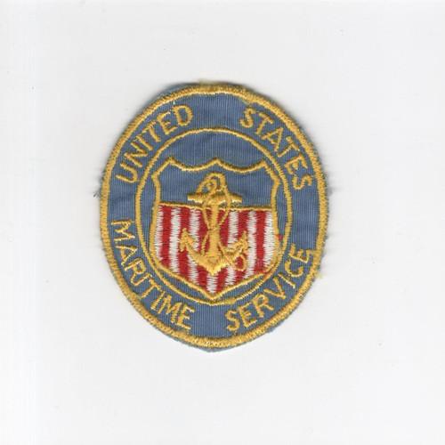Rare WW 2 USMS United States Maritime Service Mirror Patch Inv# H484