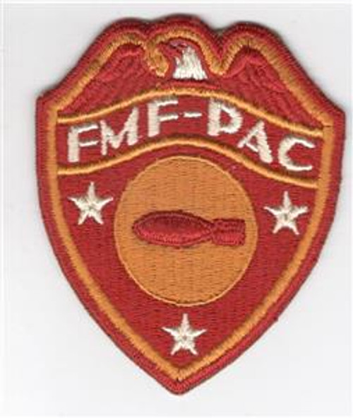Detailed Feathers WW 2 USMC FMF-PAC Bomb Disposal Patch Inv# Z311