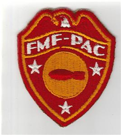 Detailed Feathers WW 2 USMC FMF-PAC Bomb Disposal Patch Inv# S665